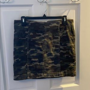 Camo mini skirt denim, purchased from Macy's